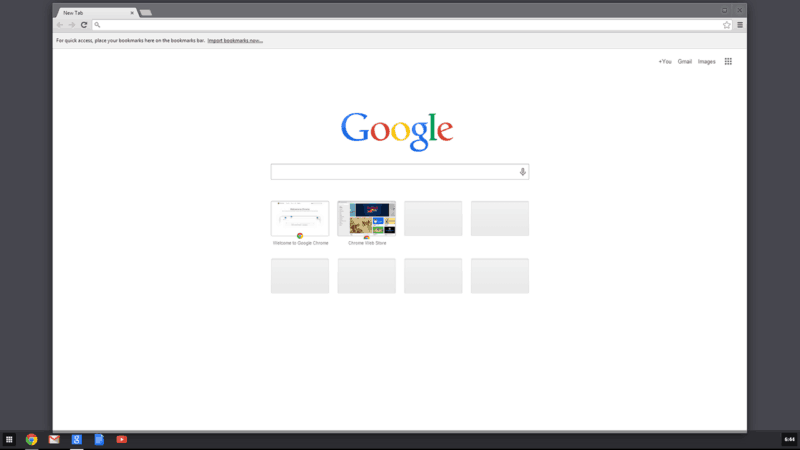 Accueil Google Chrome