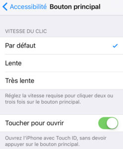 deverrouiller iPhone TouchID