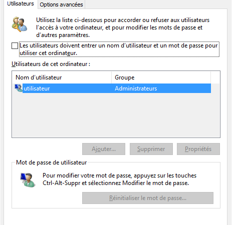Comment supprimer le mot de passe au démarrage de Windows 10 ?