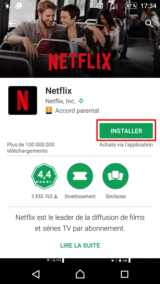 Réinstallation d'une application Android