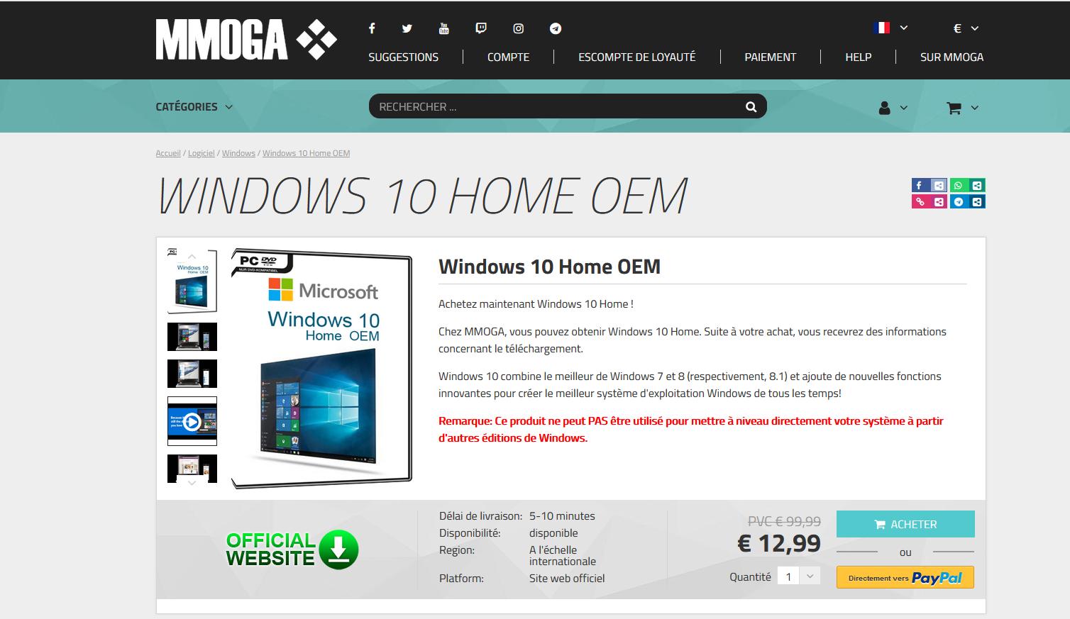 Achat de licence Windfows 10 pour pouvoir profiter de Windows 11 sur son ordinateur