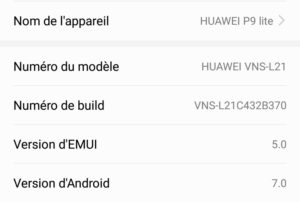 Connaitre sa version d'Android