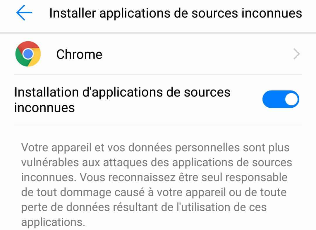 Installation d'applications non reconnues par Android et Google