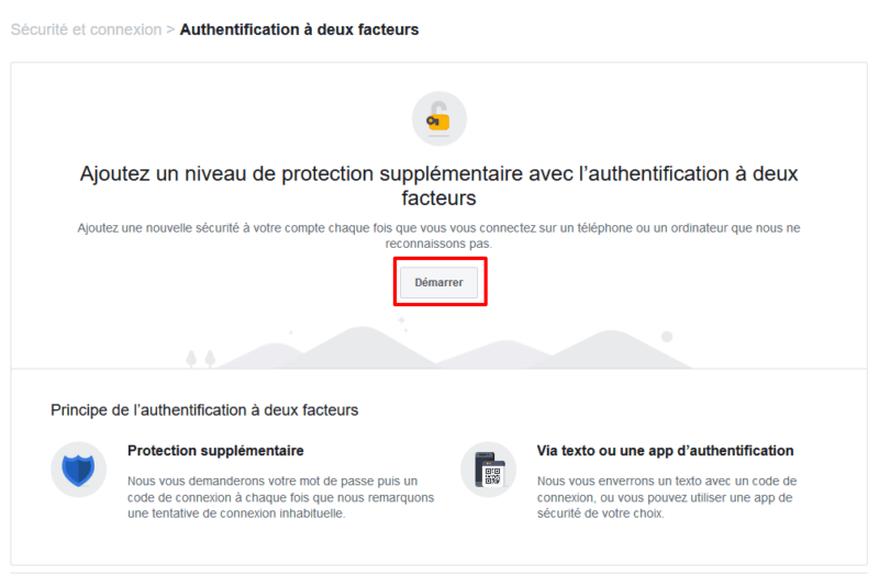Sécuriser son compte Facebook en activant l'authentification à double facteur
