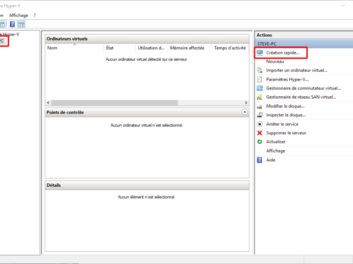 Comment installer une machine virtuelle Hyper-V sous Windows 10 ?