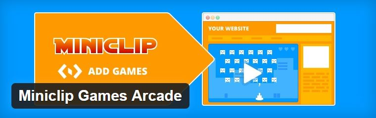 Plugin de jeu pour wordpress : miniclip Games Arcade