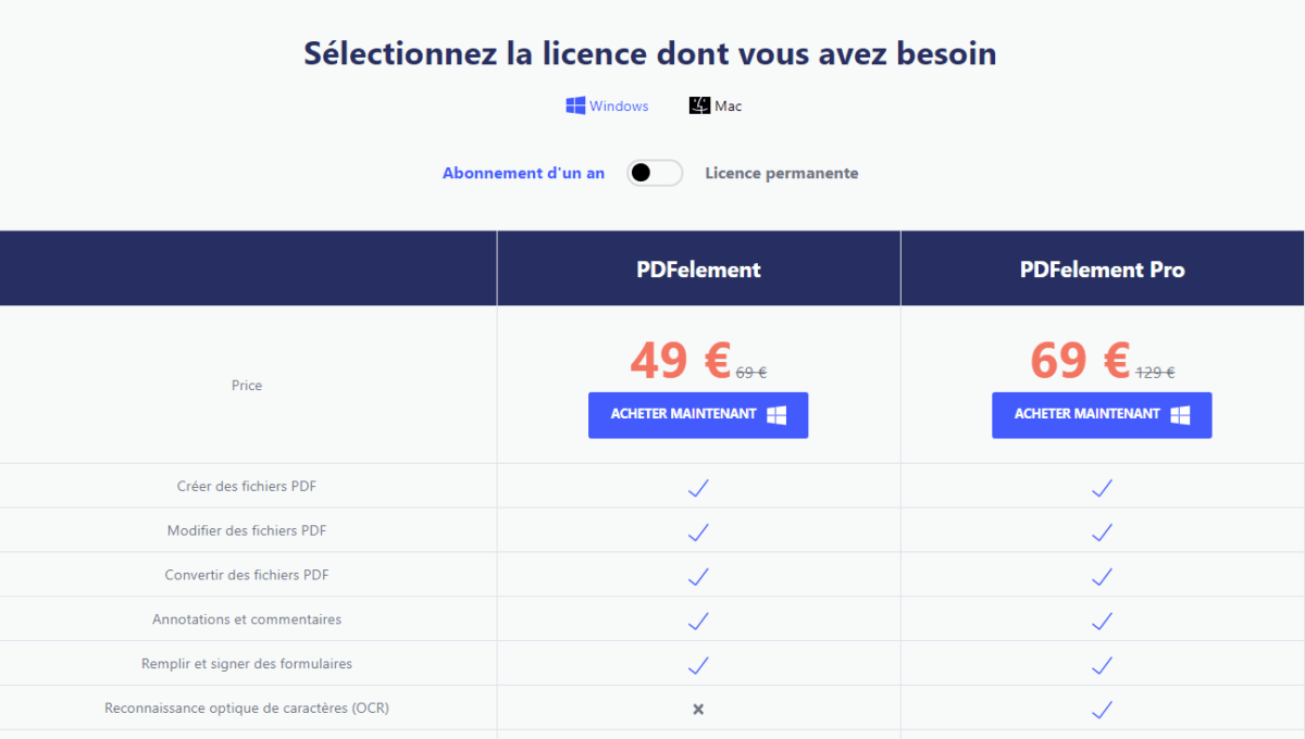 Offre promo PDFelement