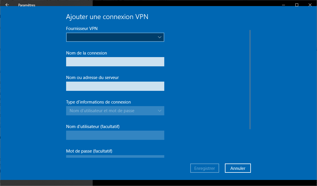 Comment installer un VPN sous Windows 10 ?