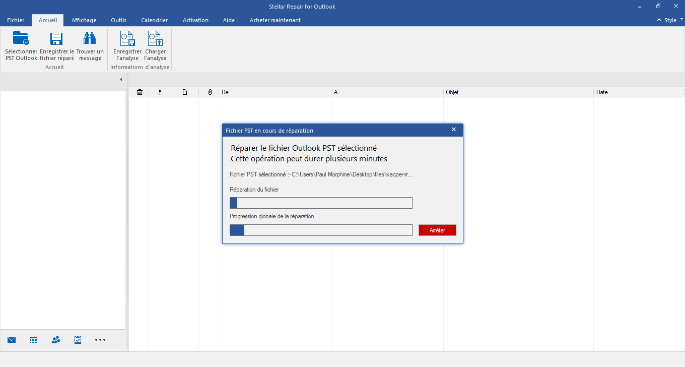 Comment réparer un fichier Outlook PST corrompu avec Stellar Repair for Outlook ?