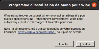 installation wine mono