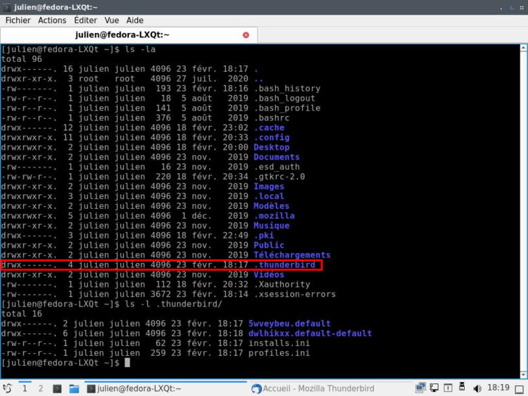 emplacement TB linux